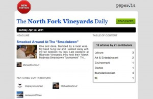 The North Fork Vineyards Daily is out Edition of Sunday Apr